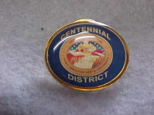 2009 QUALITY DISTRICT PIN, BLUE BACKGROUND
