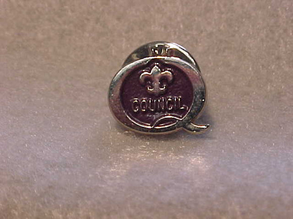 1999 QUALITY COUNCIL PIN, PURPLE/SILVER