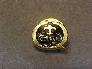 2001 QUALITY COUNCIL PIN, BLACK/GOLD