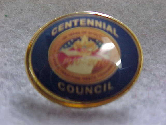 2009 QUALITY COUNCIL PIN, BLUE BACKGROUND