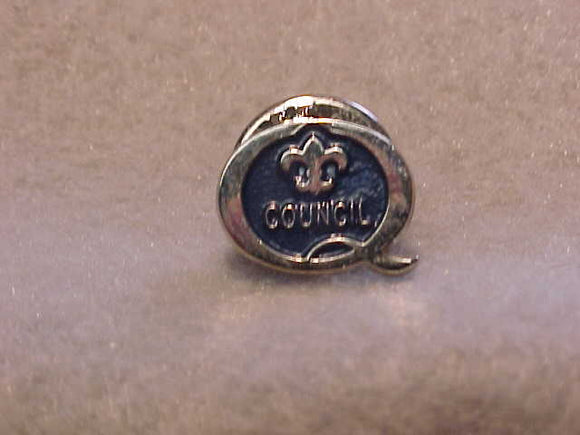 1998 QUALITY COUNCIL PIN, BLUE/SILVER
