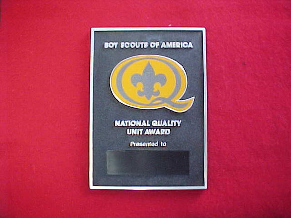 1995 QUALITY UNIT AWARD PLAQUE