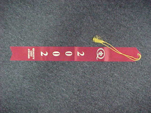 2002 QUALITY UNIT AWARD RIBBON