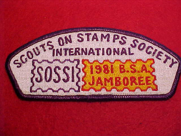 1981 SOSSI, SCOUTS ON STAMPS SOCIETY INTERNATIONAL STAFF