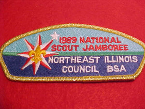 1989 NORTHEAST ILLINOIS, GOLD MYLAR BORDER