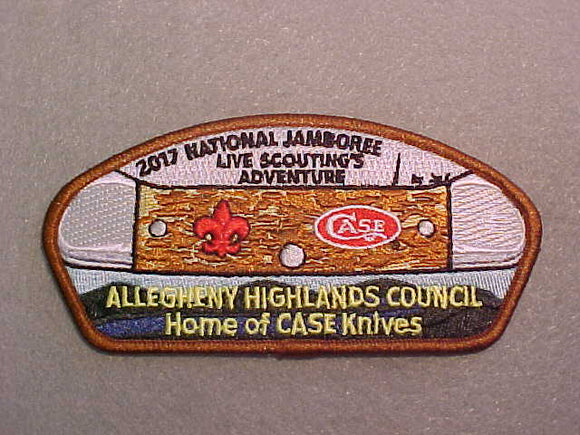 2017 NJ ALLEGHENY HIGHLANDS COUNCIL, HOME OF CASE KNIVES