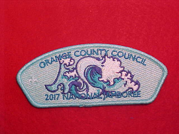 2017 NJ ORANGE COUNTY COUNCIL, LIGHT BLUE BORDER, 100 MADE