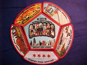 2013 CHICAGO AREA 6 PIECE SET (5 JSP'S + JACKET PATCH)
