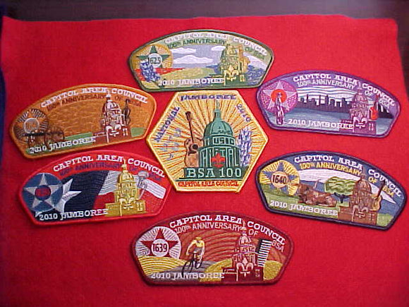 2010 CAPITOL AREA 7 PIECE SET (6 JSP'S + HEXAGON POCKET PATCH)
