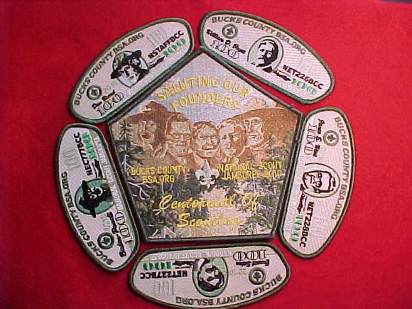 2010 BUCKS COUNTY COUNCIL, 5 JSP + JACKET PATCH SET