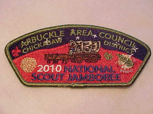 2010 NJ JSP, ARBUCKLE AREA C., CHICKASAW DISTRICT, GREEN BDR.