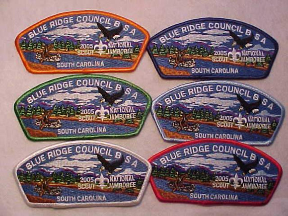 2005 NJ JSP SET, BLUE RIDGE C., SOUTH CAROLINA, 6 DIFFERENT