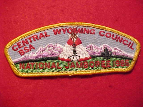 1985 NJ JSP, CENTRAL WYOMING C., YELLOW BDR.
