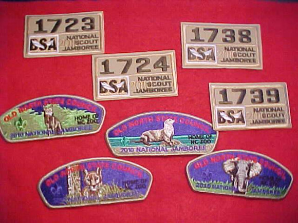 2010 NJ JSP SET, OLD NORTH STATE C., SET OF 8 (4 JSP'S & 4 UNIT NUMBERS)