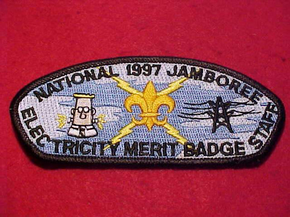 1997 NJ JSP, ELECTRICITY MERIT BADGE STAFF, DILBERT CARTOON  CHARACTER