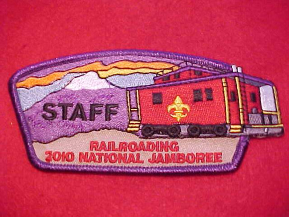 2010 NJ JSP, RAILROADING STAFF, PURPLE BDR.