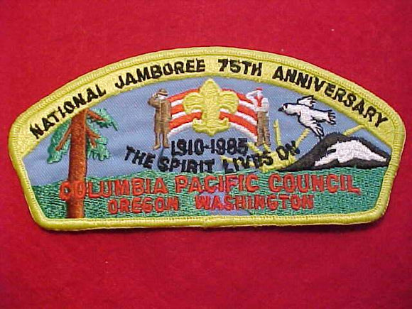1985 JSP, COLUMBIA PACIFIC C., 75TH ANNIV., OREGON/WASHINGTON