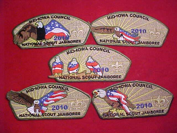 2010 MID-IOWA C., SET OF 5 DIFFERENT PATCHES