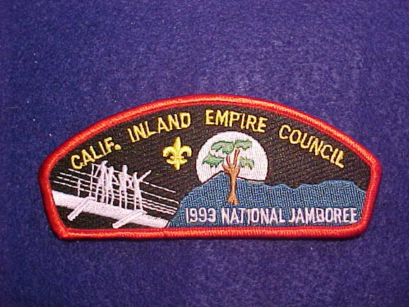 1993 CALIFORNIA INLAND EMPIRE COUNCIL, RED BORDER