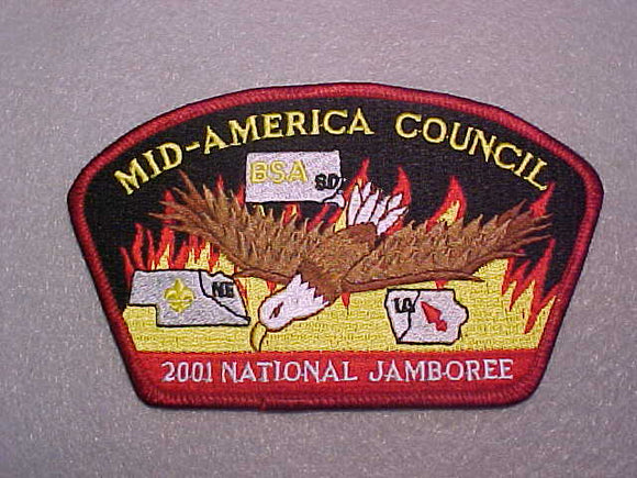 2001 MID-AMERICA COUNCIL, RED BORDER