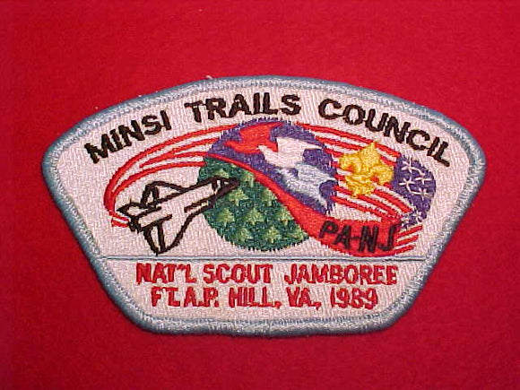 1989 MINSI TRAILS COUNCIL, LT BLUE BORDER