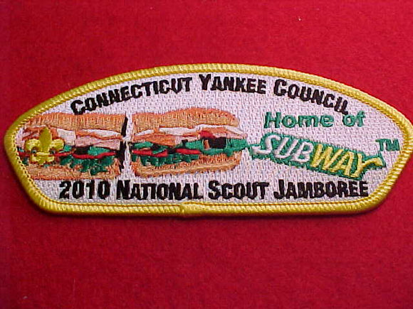 2010 CONNECTICUT YANKEE, HOME OF SUBWAY SANDWICH