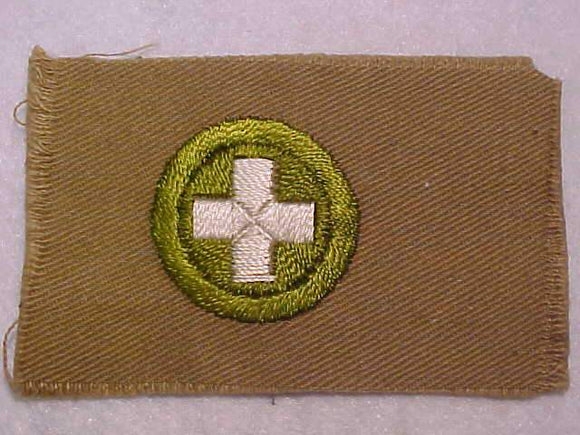 SAFETY MERIT BADGE, SQUARE, 1920'S-1933, 53 X 83MM, OVERSIZED, MINT