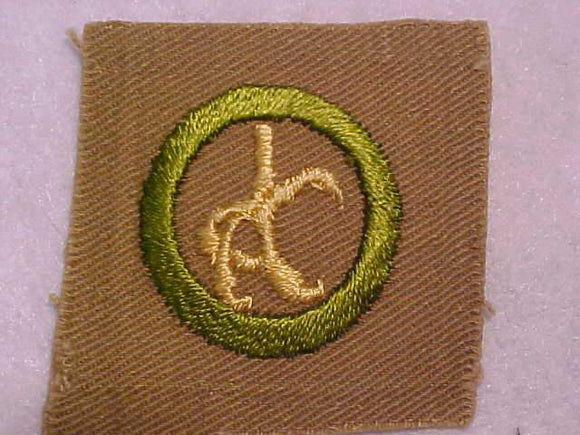 TAXIDERMY MERIT BADGE, SQUARE, 1920'S-1933, 52 X 51MM, RARE, USED