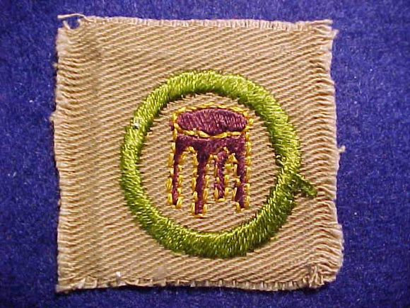 WOODWORKING SQUARE MERIT BADGE, 46 X 47MM