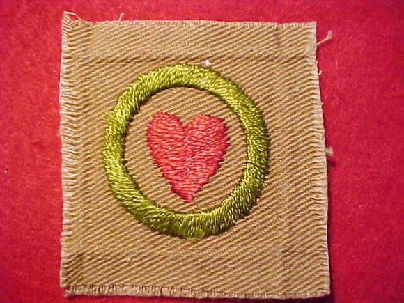 PERSONAL HEALTH MERIT BADGE, SQUARE, 1920'S-1933, 50X54MM