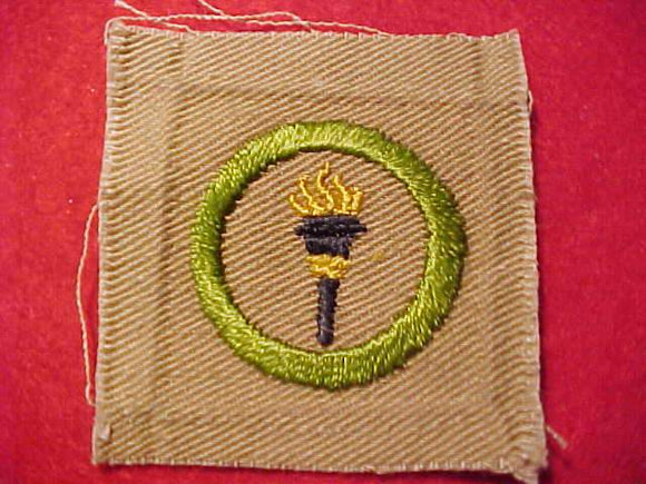 PUBLIC HEALTH MERIT BADGE, SQUARE, 1920'S-1933, 52X55MM
