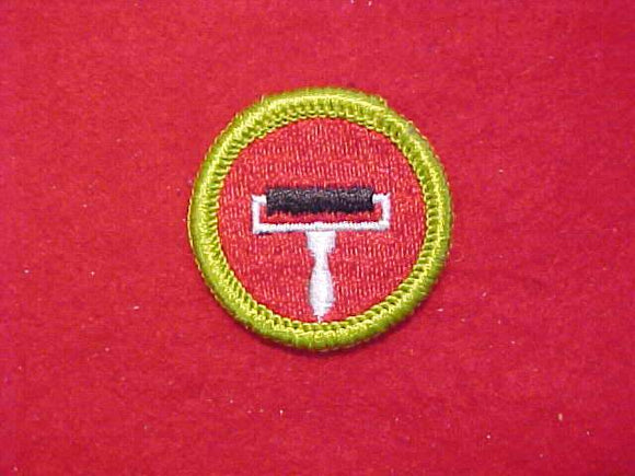 PRINTING, MERIT BADGE WITH CLOTH BACK, GREEN BORDER, 1969-72