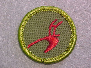 AGRICULTURE, ROLLED EDGE TWILL BACKGROUND MERIT BADGE