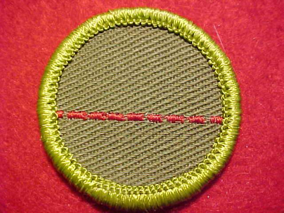 SALESMANSHIP (DOTTED LINE), ROLLED EDGE TWILL BKGR. MERIT BADGE