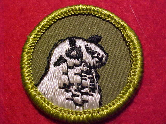 SHEEP FARMING, ROLLED EDGE TWILL BKGR. MERIT BADGE