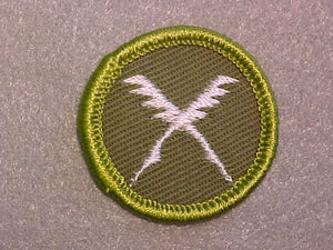 BUSINESS, ROLLED EDGE TWILL BACKGROUND MERIT BADGE