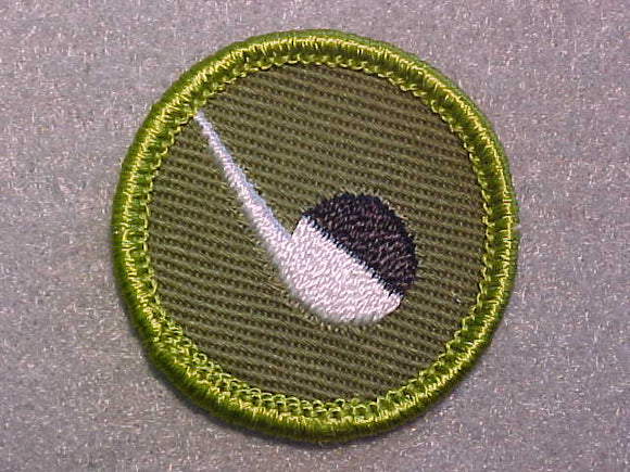 CHEMISTRY, ROLLED EDGE TWILL BACKGROUND MERIT BADGE