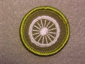 CYCLING, ROLLED EDGE TWILL BACKGROUND MERIT BADGE