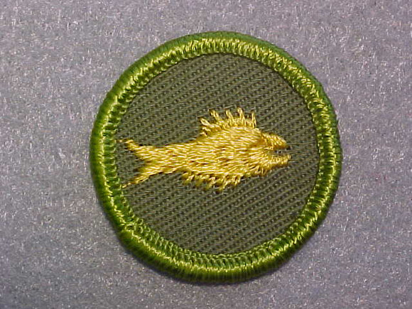FISHING, ROLLED EDGE TWILL BACKGROUND MERIT BADGE