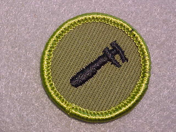 MACHINERY, ROLLED EDGE TWILL BACKGROUND MERIT BADGE