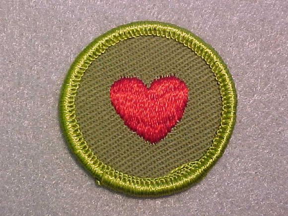 PERSONAL FITNESS, ROLLED EDGE TWILL BACKGROUND MERIT BADGE