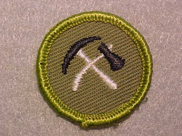 PIONEERING, ROLLED EDGE TWILL BACKGROUND MERIT BADGE