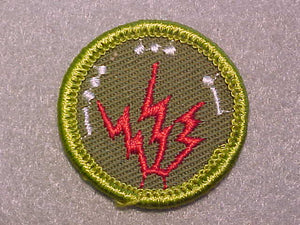 RADIO, ROLLED EDGE TWILL BACKGROUND MERIT BADGE