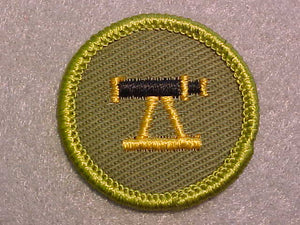 SURVEYING, ROLLED EDGE TWILL BACKGROUND MERIT BADGE