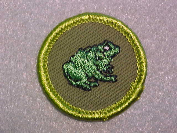 ZOOLOGY, ROLLED EDGE TWILL BACKGROUND MERIT BADGE