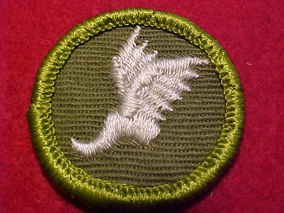 ATHLETICS, ROLLED EDGE TWILL BKGR. MERIT BADGE