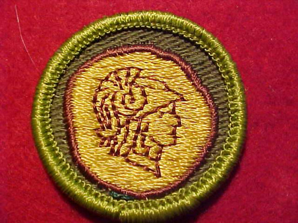 COIN COLLECTING, ROLLED EDGE TWILL BKGR. MERIT BADGE