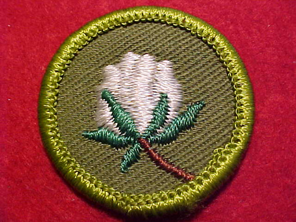 COTTON FARMING, ROLLED EDGE TWILL BKGR. MERIT BADGE
