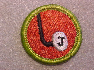 "JOURNALISM ""J"" KEY 1969-75, MERIT BADGE WITH CLEAR PLASTIC BACK, GREEN BORDER, NO IMPRINTS/LOGOS IN PLASTIC"
