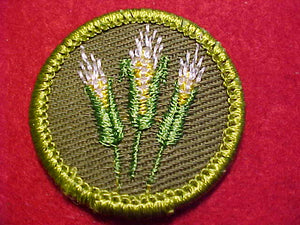 CORN FARMING, ROLLED EDGE TWILL BKGR. MERIT BADGE